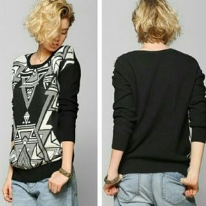 urban outfitters tribal print sweater